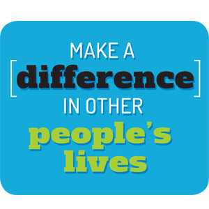 make a difference in other people's lives graphic